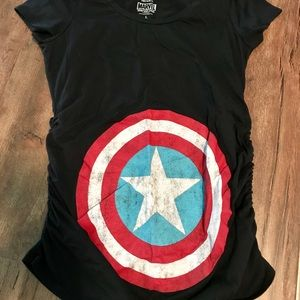 Marvel Captain America Maternity Tee